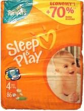 Sueño y juego de bebé mimar pañales tamaño 4
