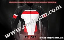 Chaqueta de cuero de la moto de equitación