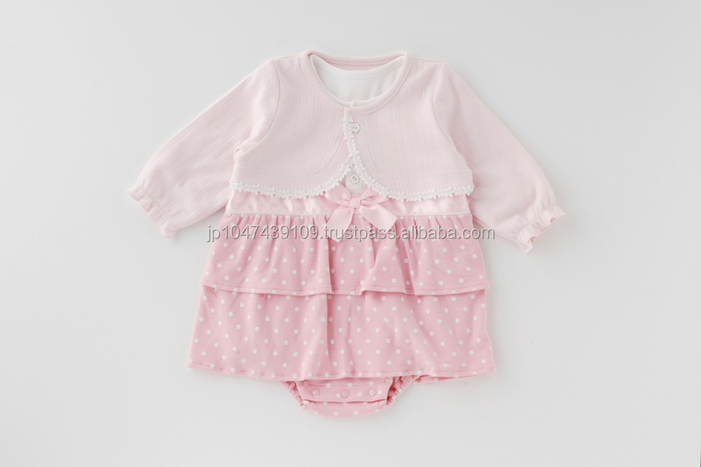Japanese wholesale high quality cute fashion girl baby suit toddler