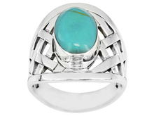 Turquoise Fashion Ring, Silver Jewelry, 925 Sterling Silver Jewelry