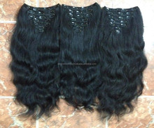 holesale Bottom Price best quality 100% human hair extension clips on human hair