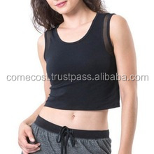 Nylon Spandex Wholesale Women Custom Sports Tank Tops Fitness Running Crop Topest Fitness
