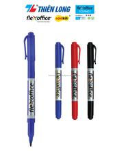Permanent Marker Durable Twin-Nib Plastic Marker: FlexOffice FO-PM01