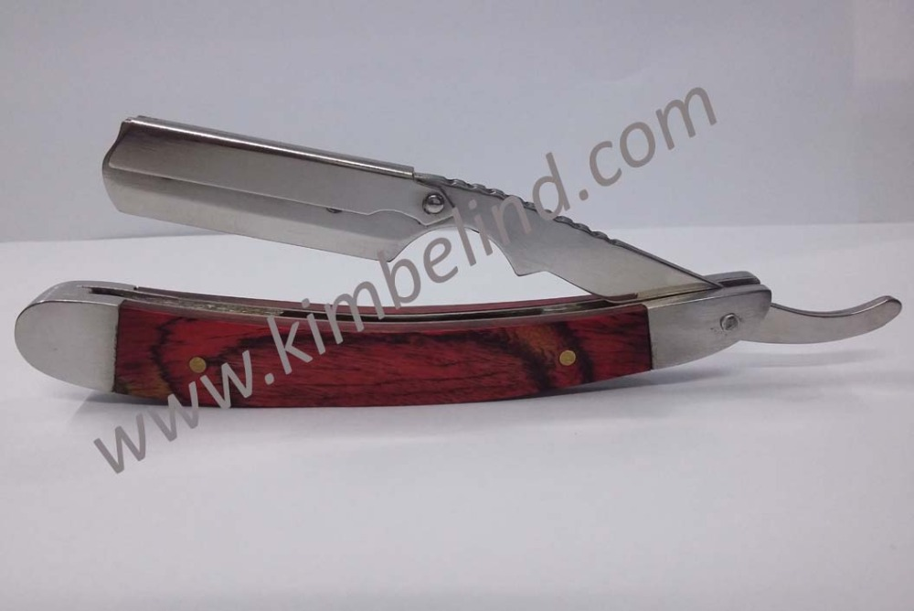 Fully stainless steel barber straight razor single blade for Fish pedicure utah