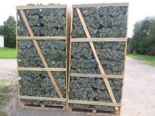 kammergetrocknet Brennholz auf Palettenboxen Eiche Esche Buche Hainbuche Erle Birke