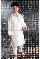 Plain Kids White Kurta