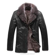 Leather Fur Coat Men's Casual Designer Goatskin Leather Lamb Fur Coat