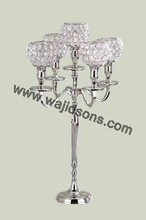Crystal candelabra and centerpieces for party manufactured by top brass company in India