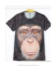 Big face animal t shirt 3d animal face t shirts