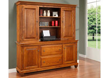 Popular 2015 Solid Wood Computer Station desk with Hutch