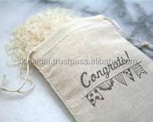 custom organic cotton OEM shoe bag