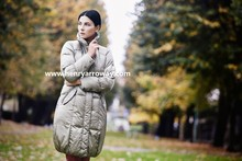 Long feather down woman winter coat from Henry Arroway Spain