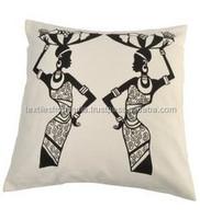 fair trade 100% cotton material cushion covers