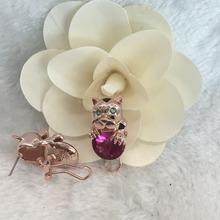 Designer Inspired Gold CRYSTAL JAGUAR Panther LEOPARD Head Chain Necklace SET Wholesale China