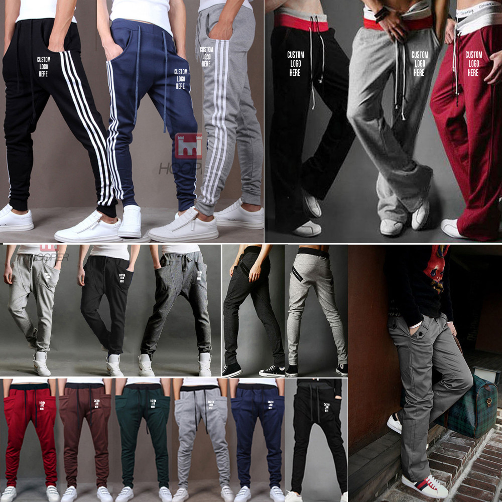 customize sweatpants with writing down the leg