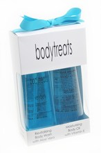 Beauty Gift Box includes. Body Wash and Body Oil.