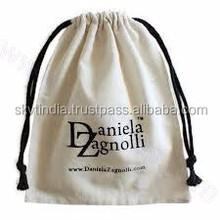 design printed cotton pouch