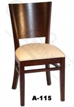curved back wooden cheap restaurant chair