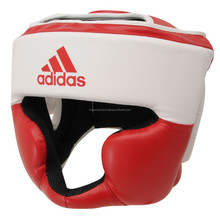 White & Red Color Boxing Head Guard / Head Guard / Cow Leather Boxing Head Guard Free Shipping 30 Pieces