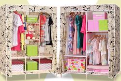 Portable Non Woven Fabric Wardrobe
