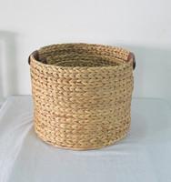 Eco-friendly handmade waterhyacinth storage baskets,