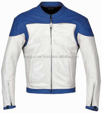 Green/Blue/Yellow/Red Certified Ce Armour Motorcycle/Motorbike Biker Protective Premium Quality Cow Grain Leather Jacket