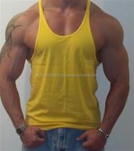 Wholesale Plain Gym stringer men's tank top In Bulk 2015 /GREEN TIGER SPORTS Gym Stringers / Gym Tank Tops