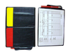 Referee wallet with red card and yellow card