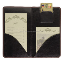 A4 High Quality Genuine Leather Menu Cover With Credit Card Holder