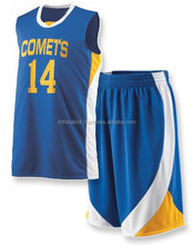 2015 new design custom sublimation wholesale basketball uniform for sale