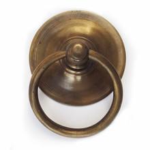 """Brass Ring tiradores-golden redondo Simple placa posterior 3-1 / 4 """""""