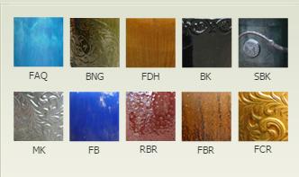 standard glaze color