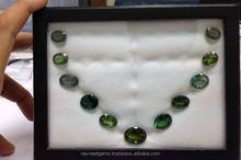 Wholesale loose AAA quality green color semi precious stones