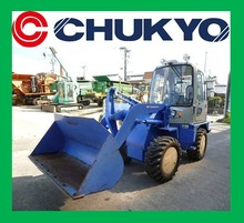 Mitsubishi WS210III Used Wheel Loader From Japan / Cab , Heater , with Tire chain , Engine : K4F-E1