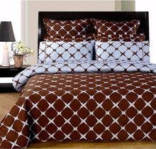 Bloomingdale Chocolate and Blue Bed in a Bag indian wedding bed sheets