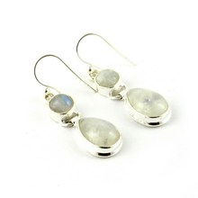 Love's Light Rainbow Moonstone 925 Sterling Silver Earring, 925 Sterling Silver Jewelry, Drop Earring