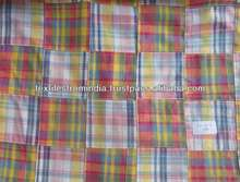 patchwork madras plaid tessuto patchwork