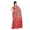 Wholsale indian Chic Red Colored Printed Silk Crape Saree TSXCS9908B