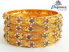 Nueva moda trajes de novia indio mayorista bangles- lote línea brazaletes de oro de un gramo