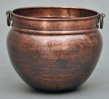 HOT SELLING SOI Copper planters with Hammered finish assorted sizes and shape availabe customised feature