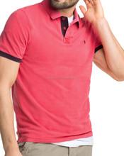 Plain dyed short sleeve polo T- shirt