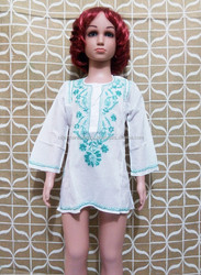 Designer Embroidered Cotton Kids Kurti from india