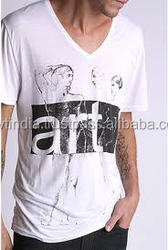 cheap v neck promotional t- shirt promotional shirts
