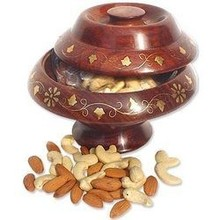 Dry fruits wooden bowl