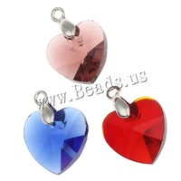 14x14x8mm mixed colors with brass bail Crystal Pendants