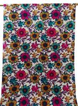 Pure Rayon Fabric White Floral Print Quilt Pillow Apparel Drape FBC1990