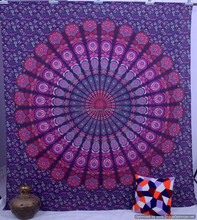 Dacorative Handmade Queen Mandala Indian Hippy Wall Hanging, Gypsy Bed Cover Ethnic Bohemian Tapestry, Bed Sheet Cotton Textile