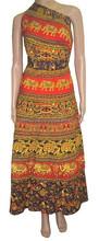 women Asymmetric wrap dress long sleeve skirt design