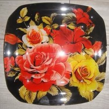 Russian style round/square shaped plates and bowls