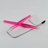 Eyelash Extension Tweezers Set Curved Tip Tweezer With Straight Tweezer In Pink Color